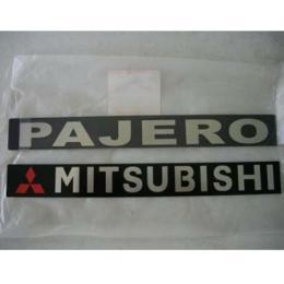 แผ่นโลโก้ ติดประตูท้าย PAJERO SHOGUN / PAJERO [เหลี่ยม]